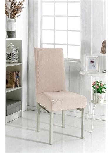 Fatih Fatih Bambu Standart Kendinden Desenli 6' Lı Sandalye Örtüsü Vizon
